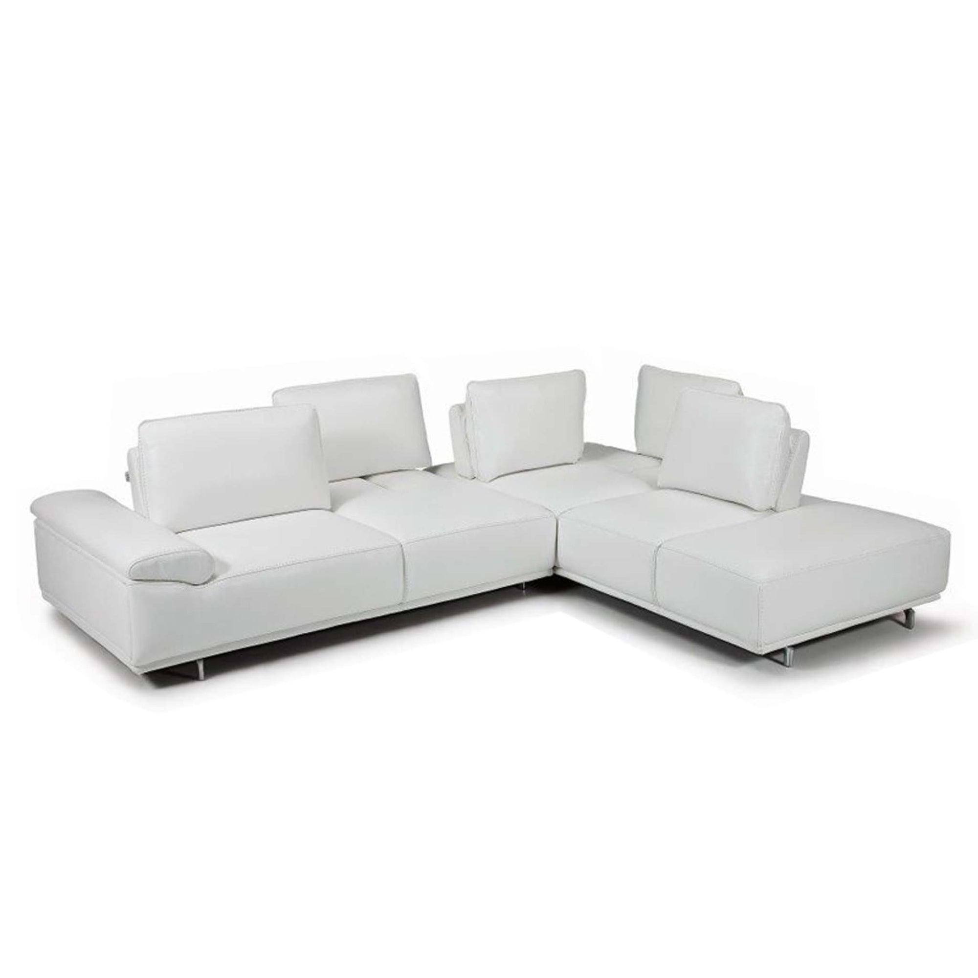 Bellini-Roxanne Right Hand Facing Sectional #35612 With Adjustable Back & Arm Cushions-Sectionals-MODTEMPO