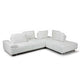 Roxanne Right Hand Facing White Sectional With Adjustable Back & Arm Cushions