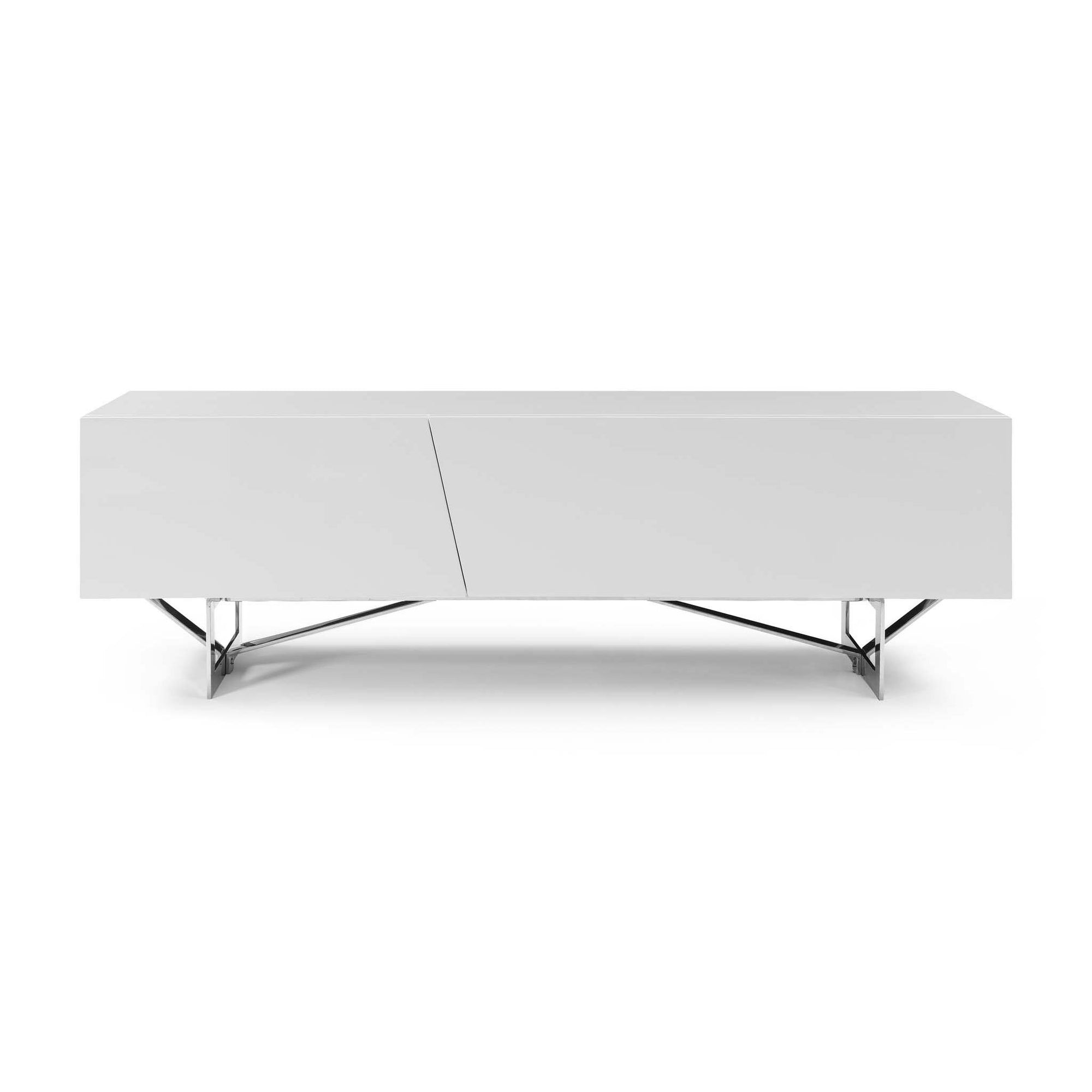 Bellini-Saleen TV Stand Gloss W/ Stainless Steel Legs-TV Stands-MODTEMPO
