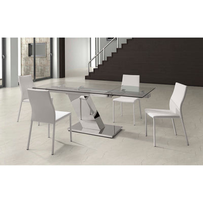 Whiteline Modern Living-Sleek Extendable Dining Table-Dining Tables-MODTEMPO