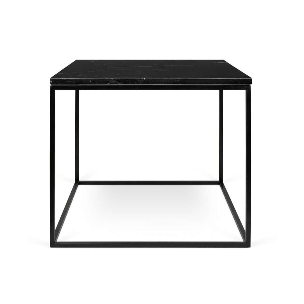Tema Home-Gleam 20x20 Marble Side Table 187042-GLEAM20MAR-Coffee Table-MODTEMPO