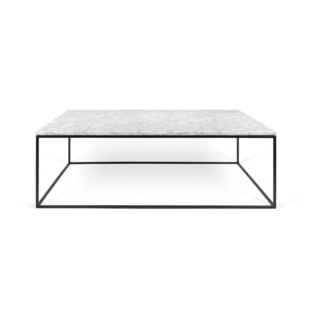 Gleam X Marble Coffee Table GLEAMMAR MODTEMPO - Rectangle white marble coffee table