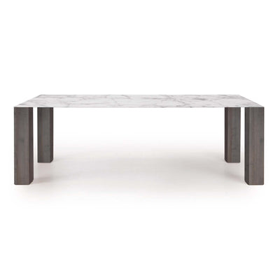 Thin Extension Dining Table WHITE/