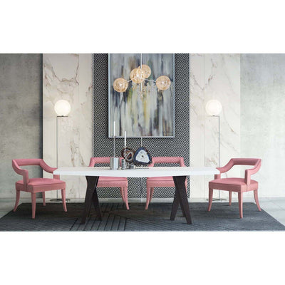 Tov-Tiffany Slub Velvet Chair-Dining Chairs-MODTEMPO