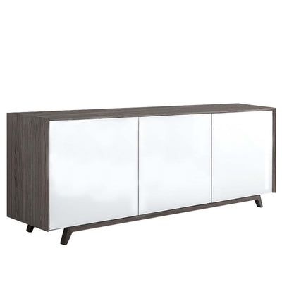 Bellini-Tischlein Ash Sideboard with Glass Doors-Sideboards & Buffets-MODTEMPO