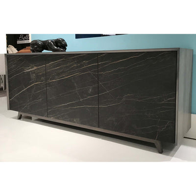 Bellini-Tischlein Sideboard with Ash Body and Noir Desir Ceramic Doors-Sideboards & Buffets-MODTEMPO