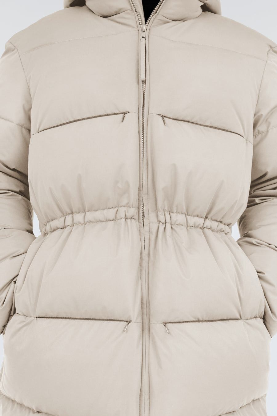 Swiss Waste Jacket – long, light cream