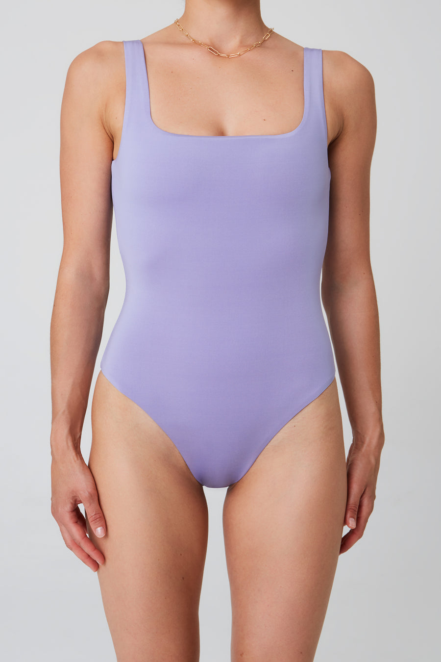 Swimsuit – square, lavender