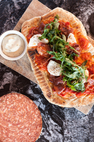 Flat Pack Flatbreads - Wagyu Beef Salami & Chilli - Collection 7th August
