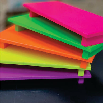 Neon wooden trays
