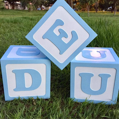 Custom decorative cubes.