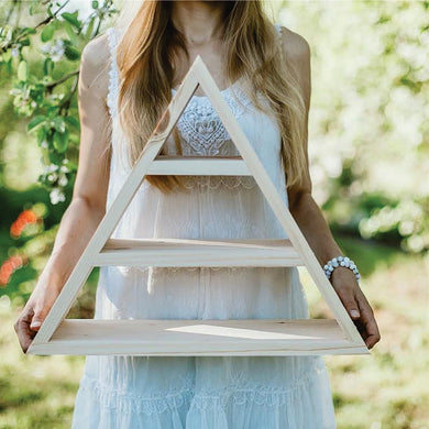 Wooden decorative triangle