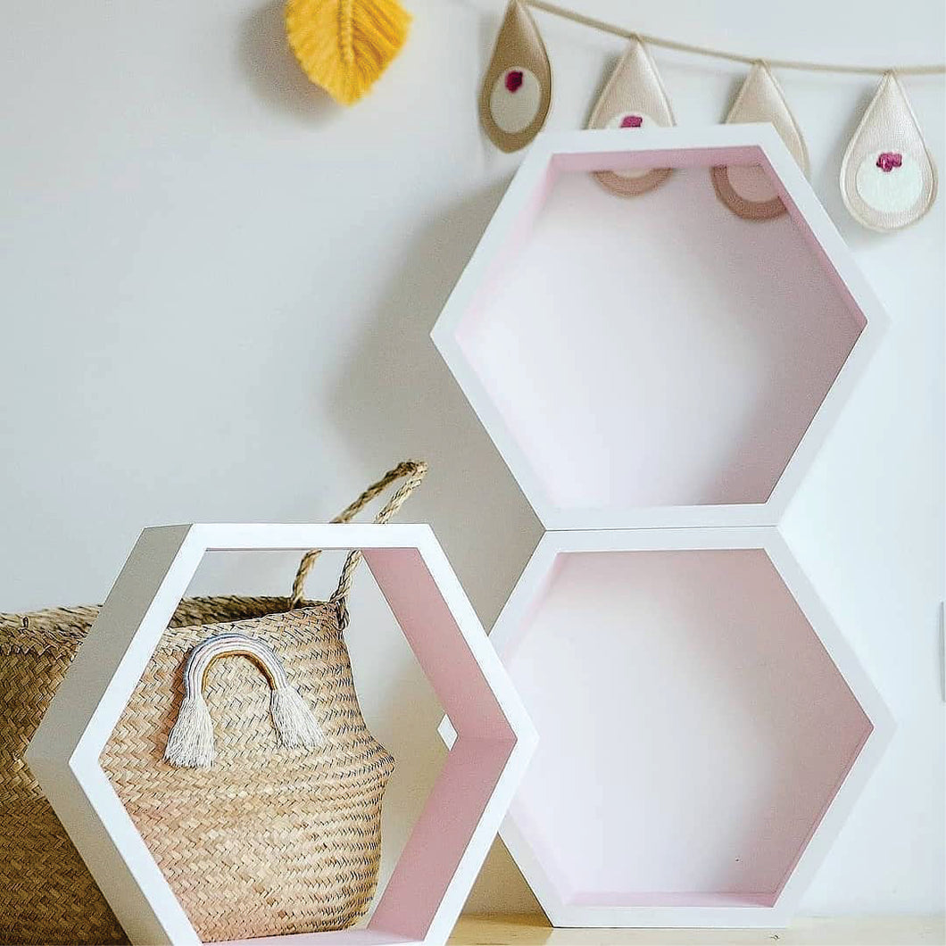 Decorative wooden hexagon