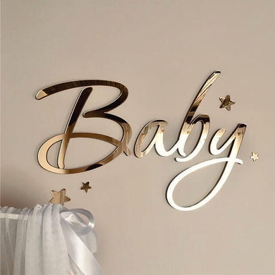 Sign Baby Acrylic Gold