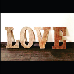 Sign Love 24 inch wood