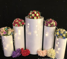 Cargar imagen en el visor de la galería, Cylinder Pillar stand rack for Wedding cake flower crafts decor