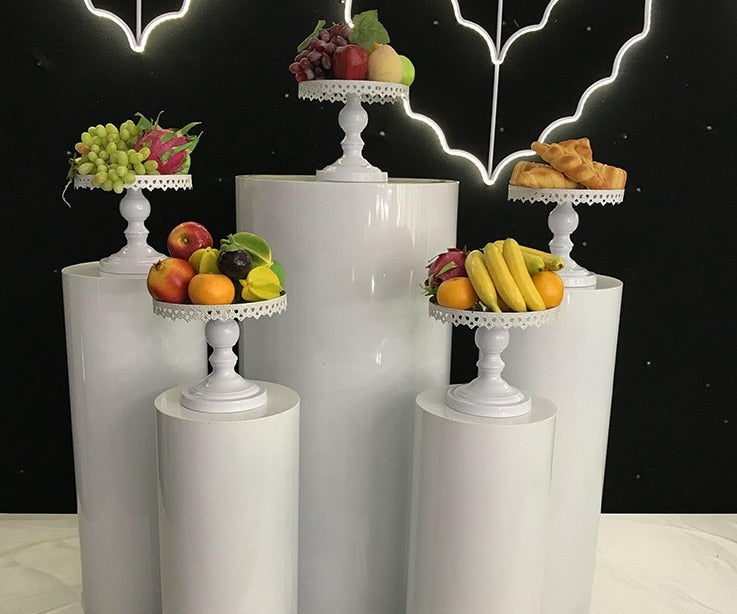 Cylinder Pillar stand rack for Wedding cake flower crafts decor