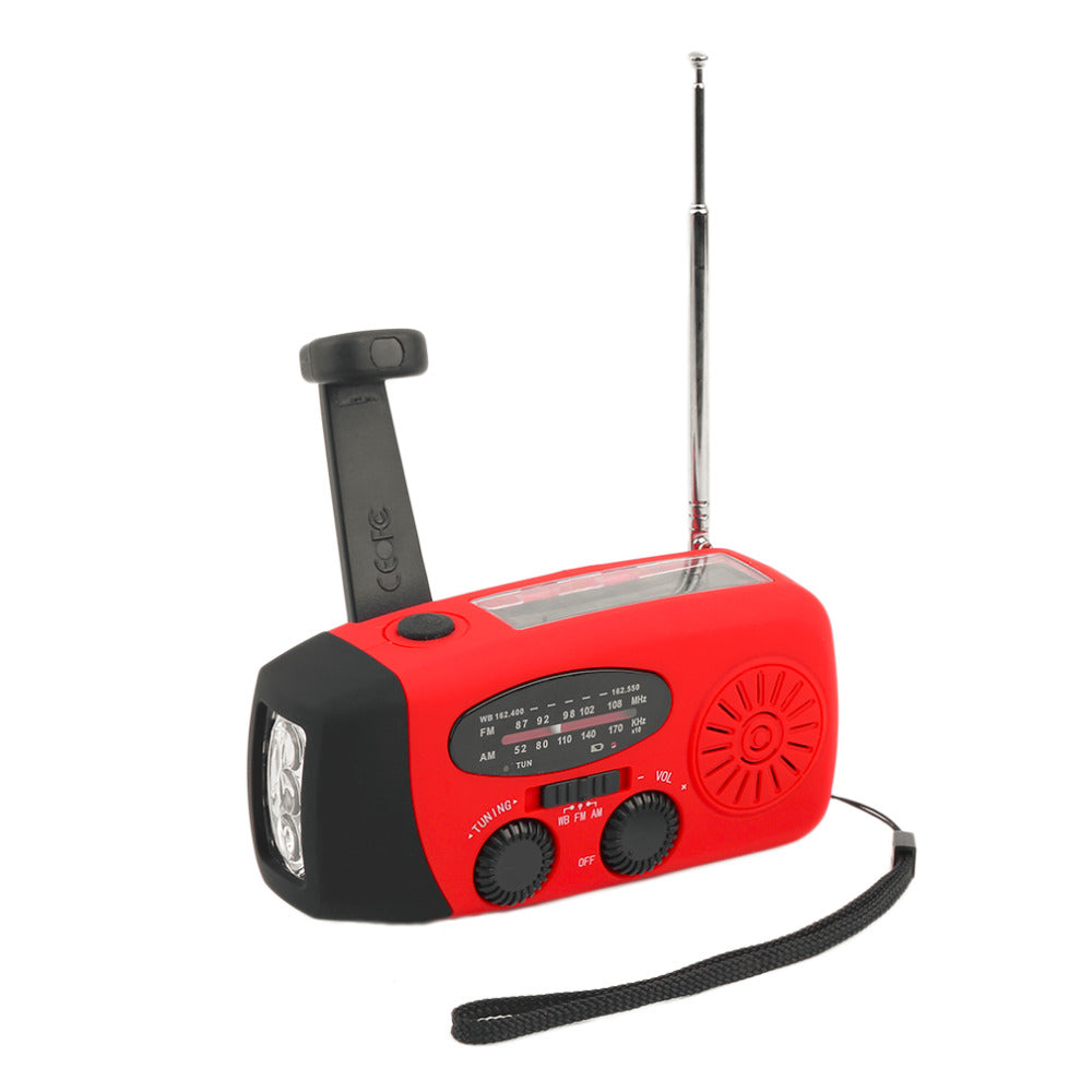 Emergency Solar Radio with Hand Crank & Flashlight