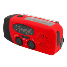 Load image into Gallery viewer, Emergency Solar Radio with Hand Crank & Flashlight