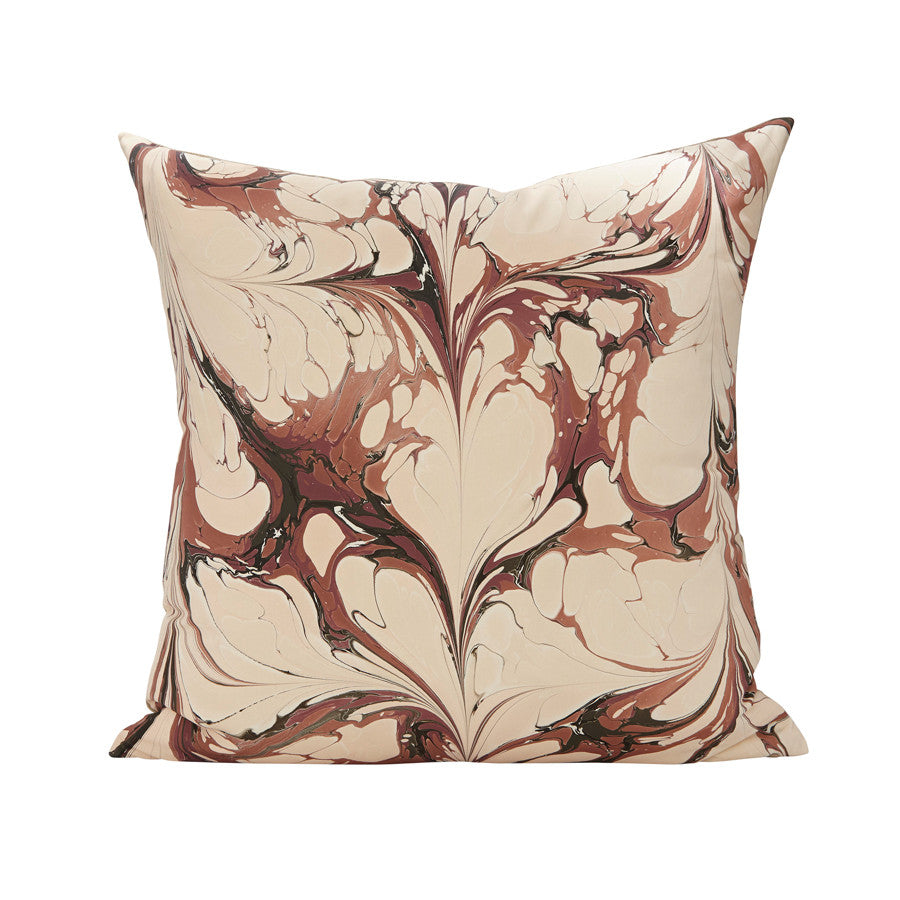 Stone Plume Pillow in Darby Rose