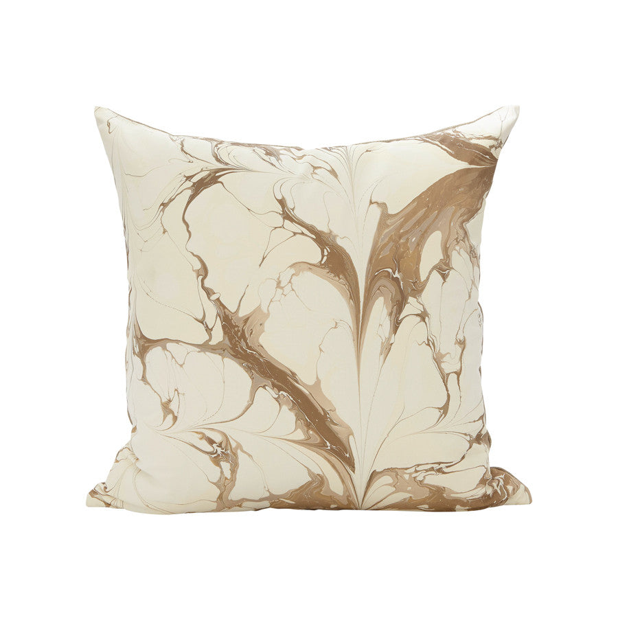 Stone Plume Pillow in Winter White
