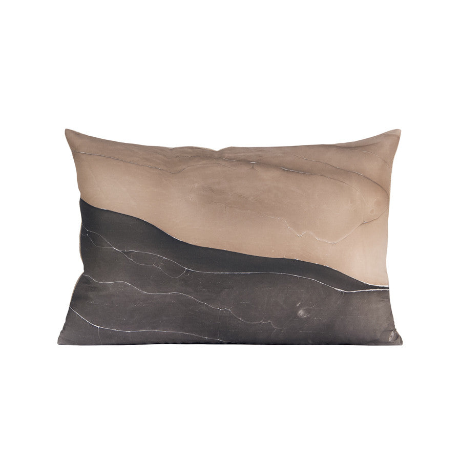 black and tan marbled pillow
