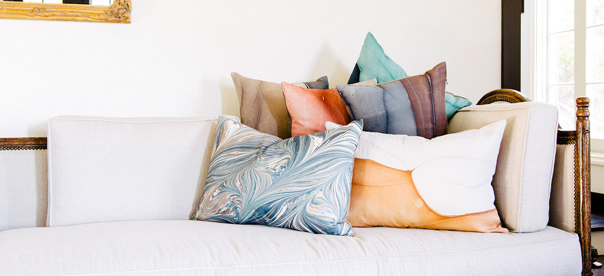 hand dyed throw pillows