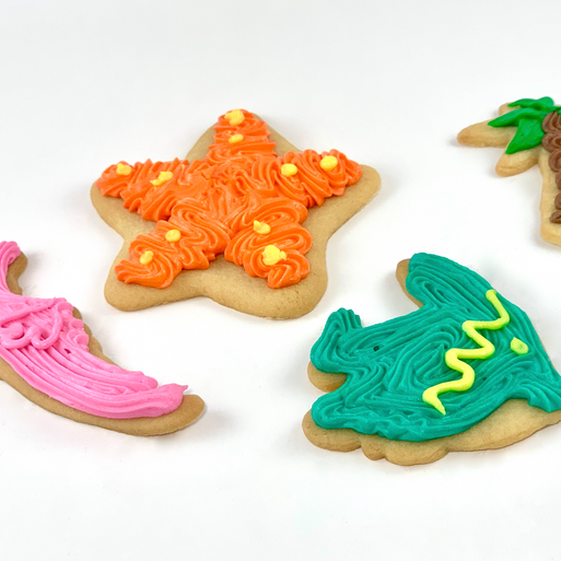 Tropical Iced cut out cookies