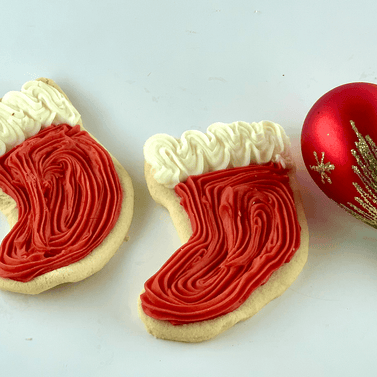 Red boots christmas cookies