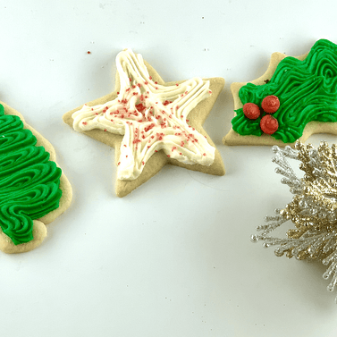 christmas cookies, christmas tree, stars, holly leaf