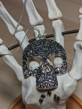 Load image into Gallery viewer, Floral Skull Necklace
