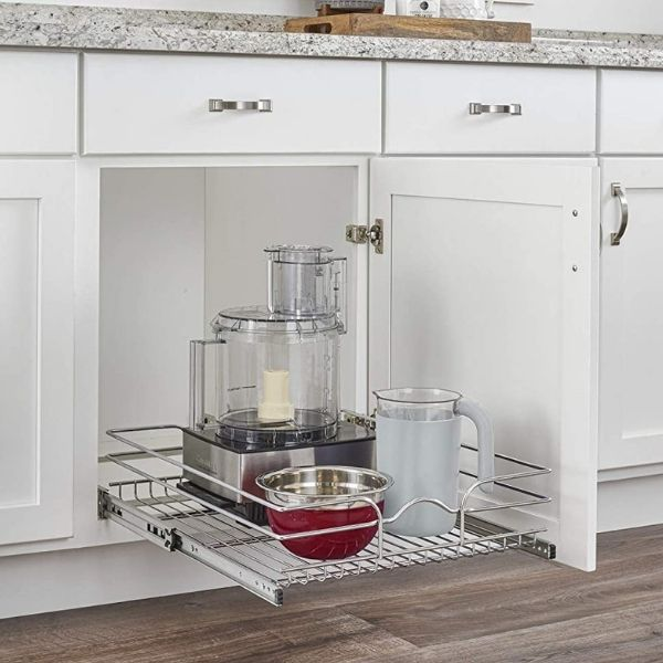 For ultimate organization, you need to find the best pull out shelves for your kitchen cabinets.