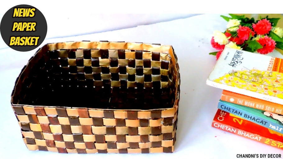 Hey everyone, here I have shown how you can make easy , beautiful and very useful newspaper basket in this video