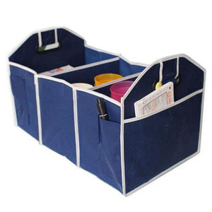 1PC 3 Compartment Car Trunk Collapsible Storage Basket Organizer Car Interior Storage Box Accessories Wholesale