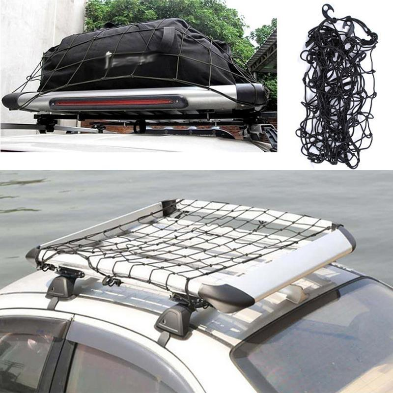 2018 Car SUV Truck Trailer Cargo Car Roof Rack Basket Organizer Net Car Roof Bag Multipurpose Elastic Mesh Luggage Rope Cover