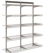 Load image into Gallery viewer, Try 5 tier heavy duty wall mount nickel wire storage shelves adjustable floating wall shelves great organizer kitchen garage laundry pantry office any room 5 shelf kit stable durable