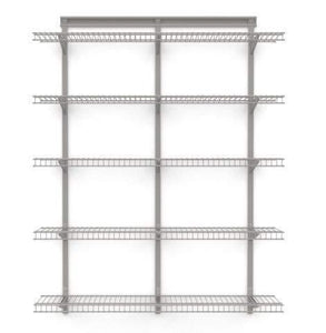 Amazon 5 tier heavy duty wall mount nickel wire storage shelves adjustable floating wall shelves great organizer kitchen garage laundry pantry office any room 5 shelf kit stable durable