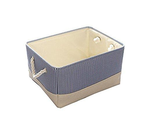 HuoGuo Brand Blue Canvas Basket Decorative Fabric Storage Bin for Toy Basket Clothes Storage Baby Basket Organizer 12