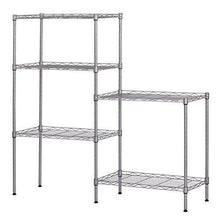 Load image into Gallery viewer, Related ferty 5 wire shelving units stacking storage shelf heavy duty metal adjustable shelves rack organizer for garden laundry bathroom kitchen pantry closet us stock