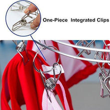 Load image into Gallery viewer, Explore amagoing hanging drying rack laundry drip hanger with 20 clips and 10 replacement for drying socks baby clothes bras towel underwear hat scarf pants gloves