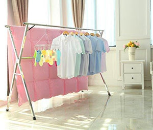 Selection stainless steel laundry drying rack free installed foldable space saving heavy duty