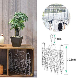 Shop for rosefray laundry clothesline hanging rack for drying sturdy 44 clips handy cloth drying hanger store hats caps and visors