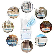 Load image into Gallery viewer, Discover the zmfh 10 pack moisture absorber hanging bags no scent max odor eliminator 220g dehumidification bags for closets bathrooms laundry rooms pantries storage