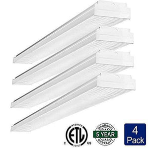Discover antlux 2ft led wraparound light 20w flush mount led garage shop lights 2400lm 4000k neutral white 2 foot commercial linear ceiling lighting fixture for kitchen laundry workshop closet 4 pack