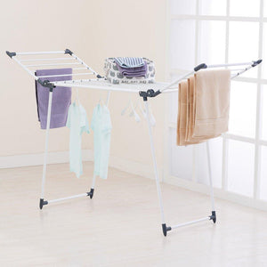 Home yubelles gullwing multipurpose clothes drying rack dark grey rustproof collapsible stable durable laundry rack