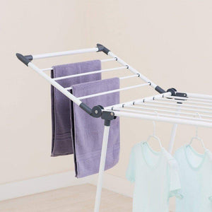 Latest yubelles gullwing multipurpose clothes drying rack dark grey rustproof collapsible stable durable laundry rack