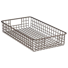 Load image into Gallery viewer, Shop for mdesign household metal wire cabinet organizer storage organizer bins baskets trays for kitchen pantry pantry fridge closets garage laundry bathroom 16 x 9 x 3 4 pack bronze