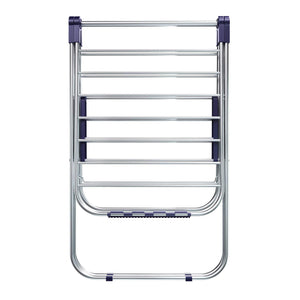 Results songmics stainless steel clothes drying rack bonus sock clips foldable for easy storage gullwing space saving laundry rack ullr52bu