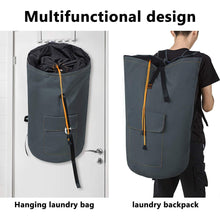 Load image into Gallery viewer, Best seller  zero jet lag 70 l extra large laundry bag heavy duty backpack with straps pockets hanging laundry hamper college essentials storage basket storage bag dorm homedark grey xl
