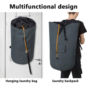 Best seller  zero jet lag 70 l extra large laundry bag heavy duty backpack with straps pockets hanging laundry hamper college essentials storage basket storage bag dorm homedark grey xl